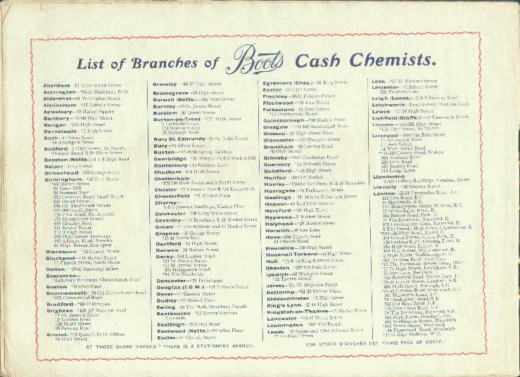 List of Branches - Aberdare to London