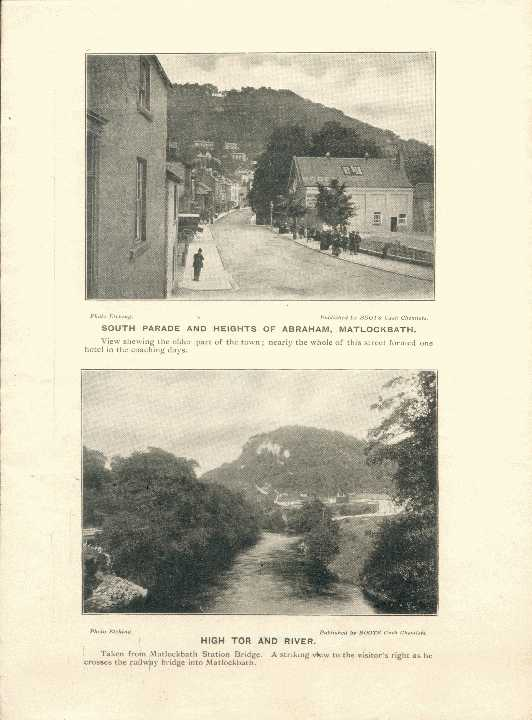 South Parade & Heights of Abraham, Matlock Bath / High Tor and River