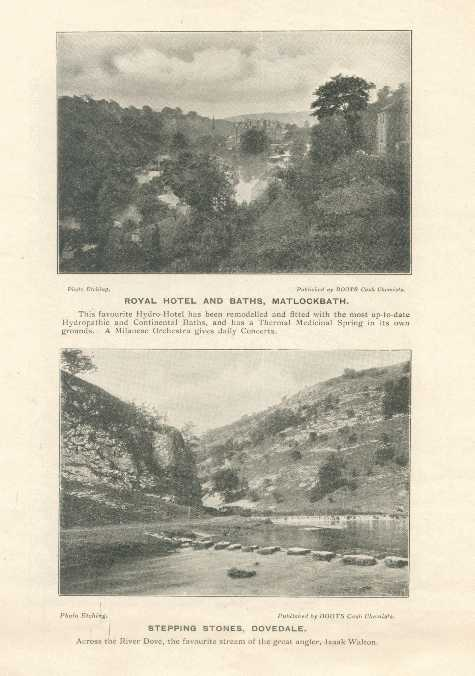 Royal Hotel and Baths, Matlock Bath / Stepping Stones, Dovedale