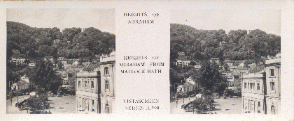 Heights of Abraham from Matlock Bath