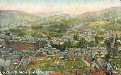 Matlock from Matlock Bank, probably taken from a garden on Cavendish Road