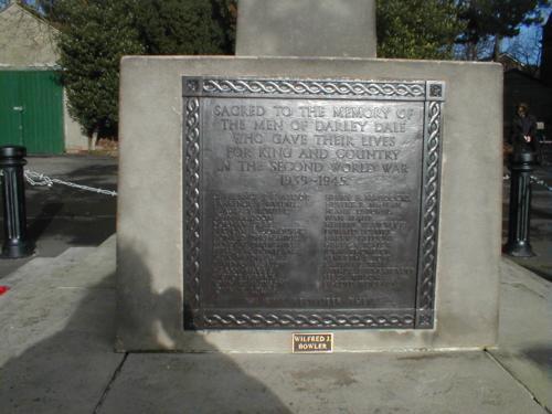 Memorial Plaque, west facing