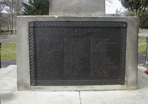 Memorial Plaque, south facing