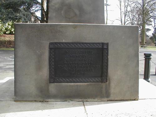Memorial Plaque, north facing