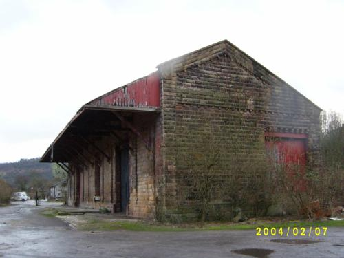 Goods shed, 2004, showing years of neglect